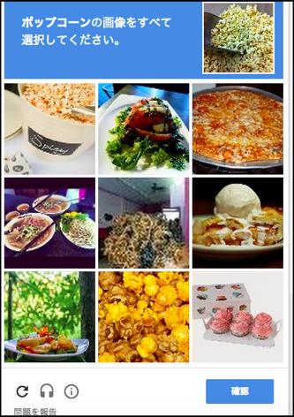reCAPTCHA  画像認証